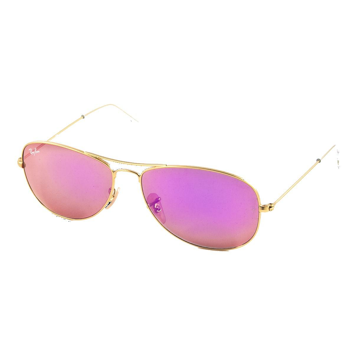 Ray Ban Cockpit RB3362 112/4T 59 matte gold / cyclamen mirror 4ydrA
