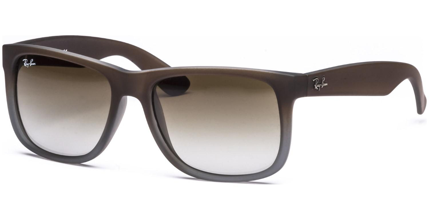 b7b878bfc8eda Lyst - Ray-Ban 0rb4165 854 7z 55 Rubber Brown On Grey green Gradient ...