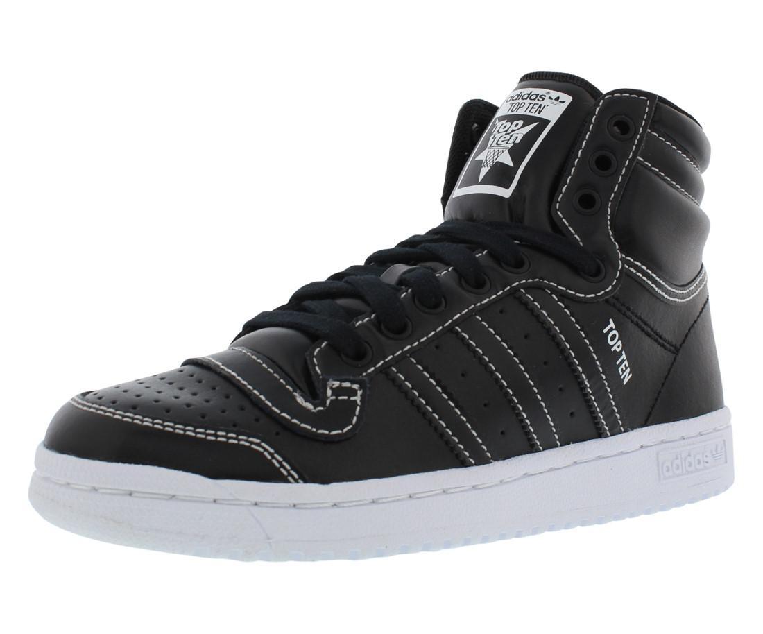 Lyst - adidas Top Ten Hi Gradeschool Kid s Shoes in Black for Men daea1f62295e1