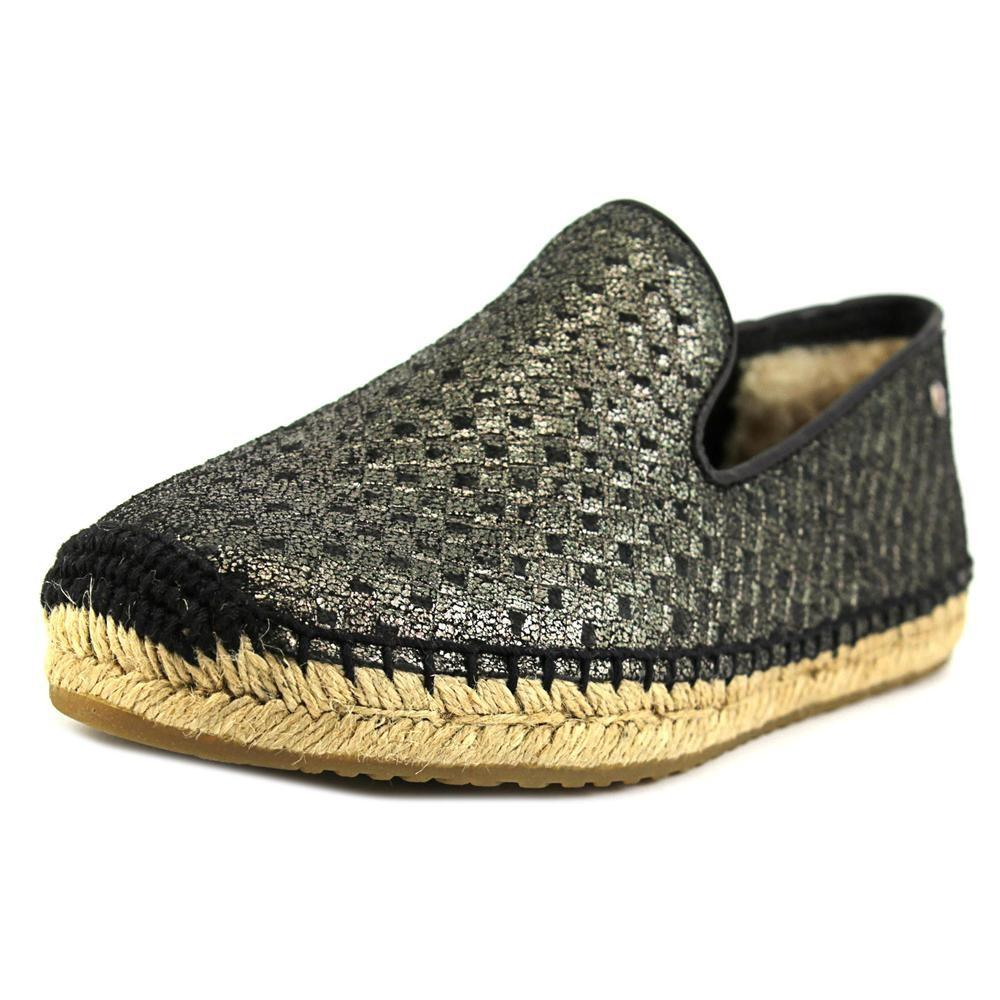 3b32cf9c5d7 Lyst - UGG Sandrinne Metallic Basket Women Us 7 Black Espadrille in ...