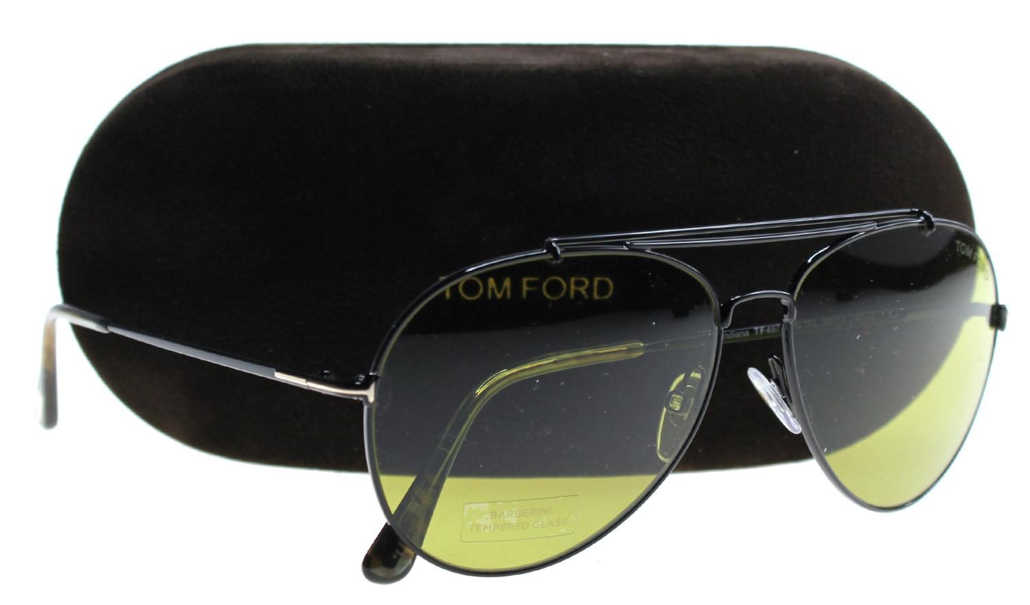 037abbd67f Tom Ford Sunglasses Indiana Tf 497 Ft 01n Shiny Black   Green in ...