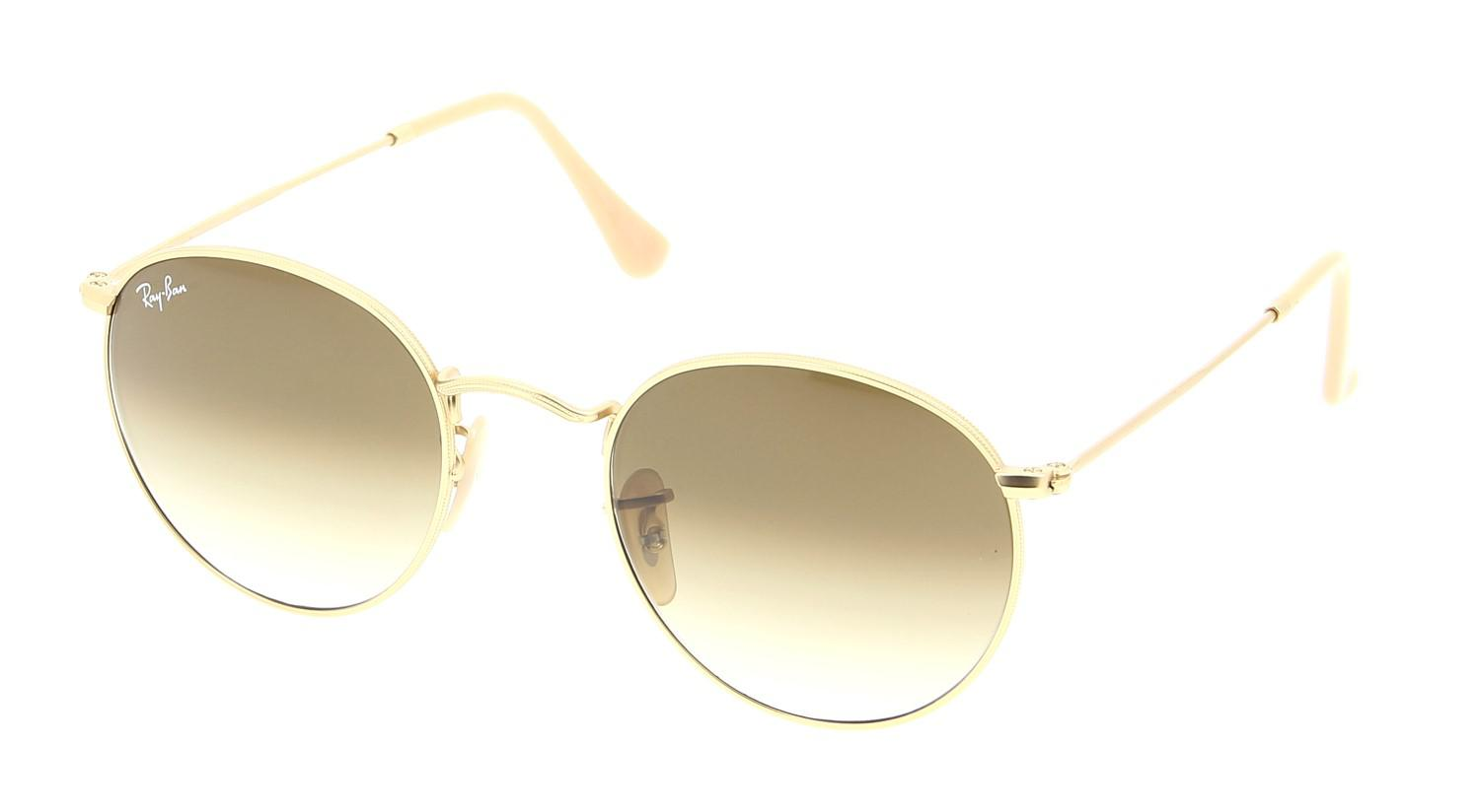 02df1b1a10b Lyst - Ray-Ban 0rb3447 112 51 50 Matte Gold clear Gradient Brown ...