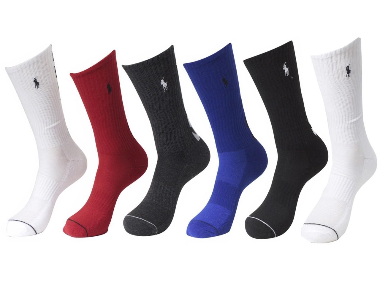 4416844c6d3c Lyst - Polo Ralph Lauren 6-pairs Chevron Assorted Crew Socks Sz: 10 ...