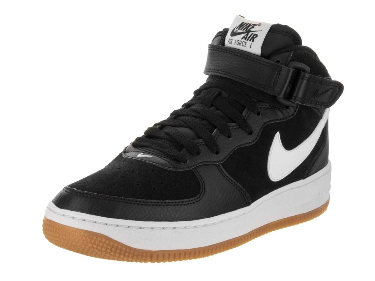 54f578d26e7 ... gym red white on sale 75391 ea191  sweden lyst nike kids air force 1  mid gs black white gum med brown 4dda4 4a847