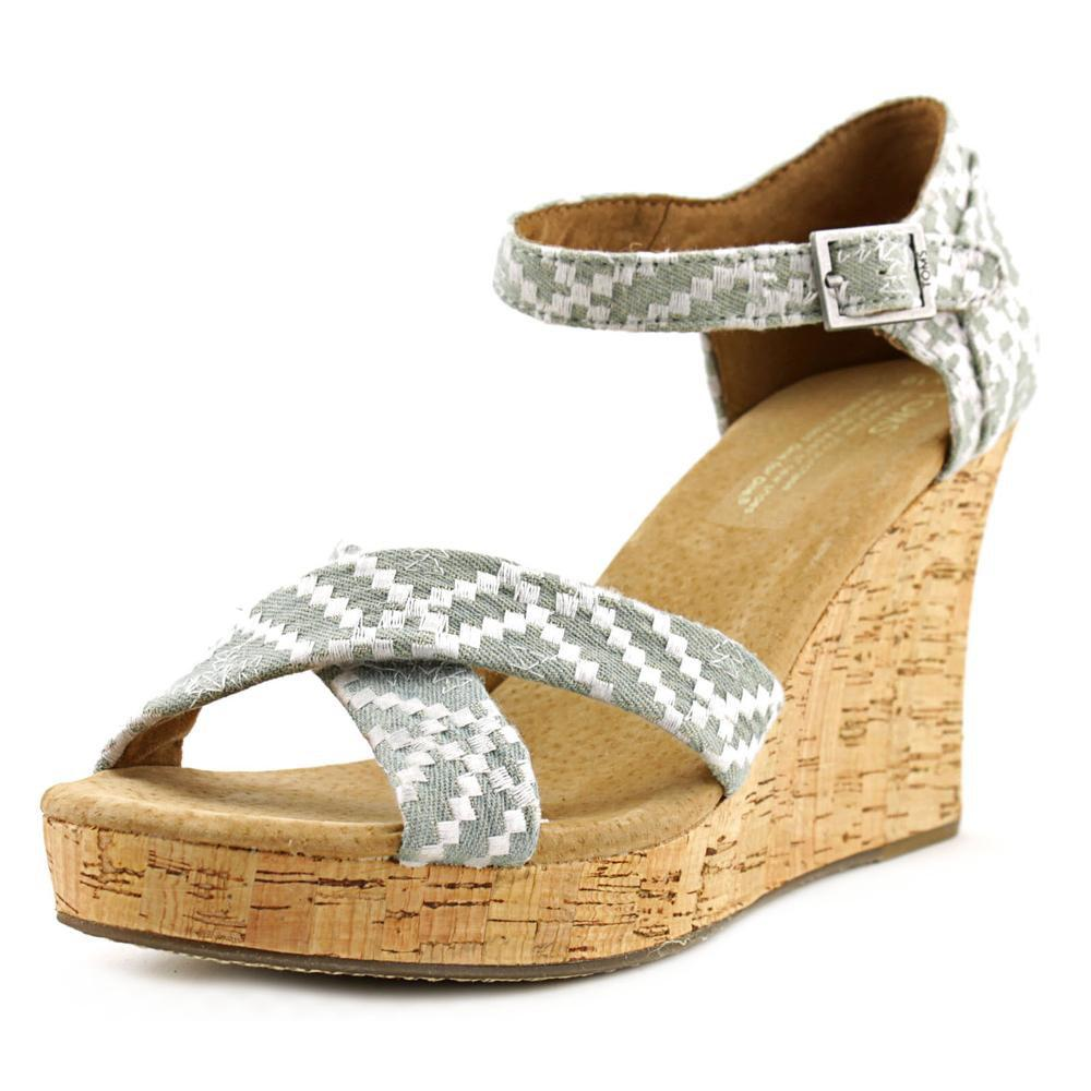 df44089da1b Lyst - Toms Strappy Wedges Women Us 10 Gray Wedge Sandal