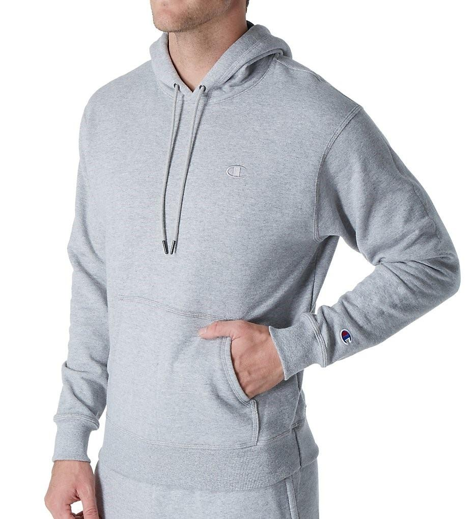 b4f696ed6411 Lyst - Champion S0889 Powerblend Fleece Pullover Hoodie (oxford Grey ...