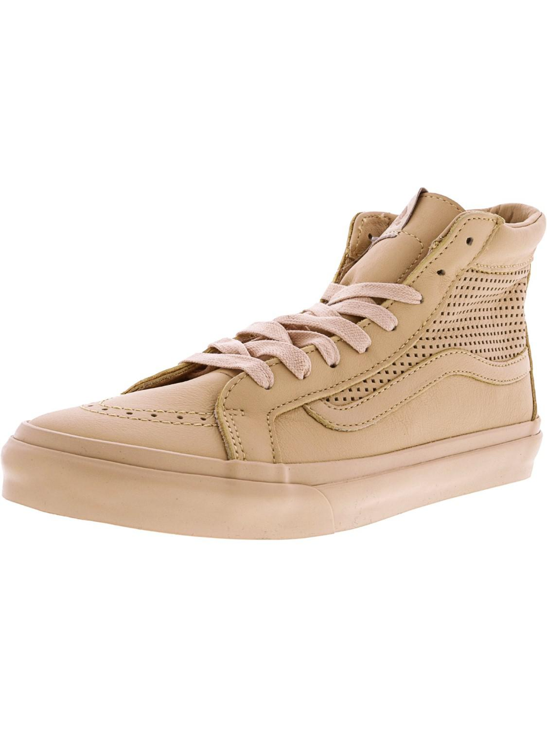 ce4f8277bd Lyst - Vans Sk8-hi Slim Cutout Square Perf High-top Leather ...
