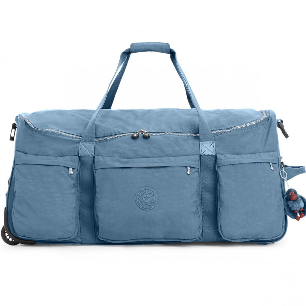 dc5c0c339a Lyst - Kipling Discover Large Wheeled Duffle in Blue