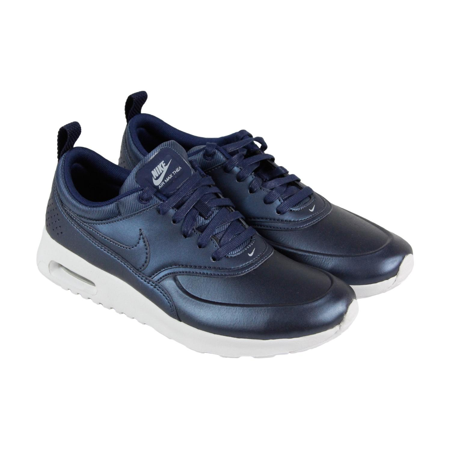5e6ed67f39 Nike Air Max Thea Se Metallic Armory Navy Womens Athletic Running ...