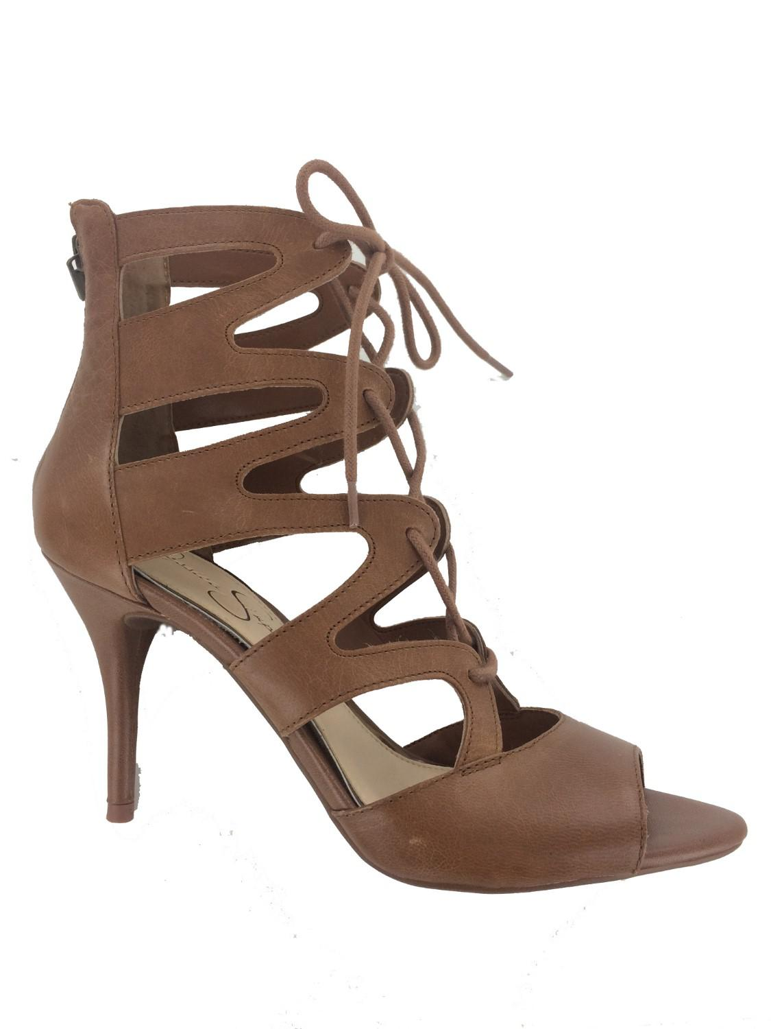 177f638ab20 Lyst - Jessica Simpson Mitta Heeled Sandal in Brown