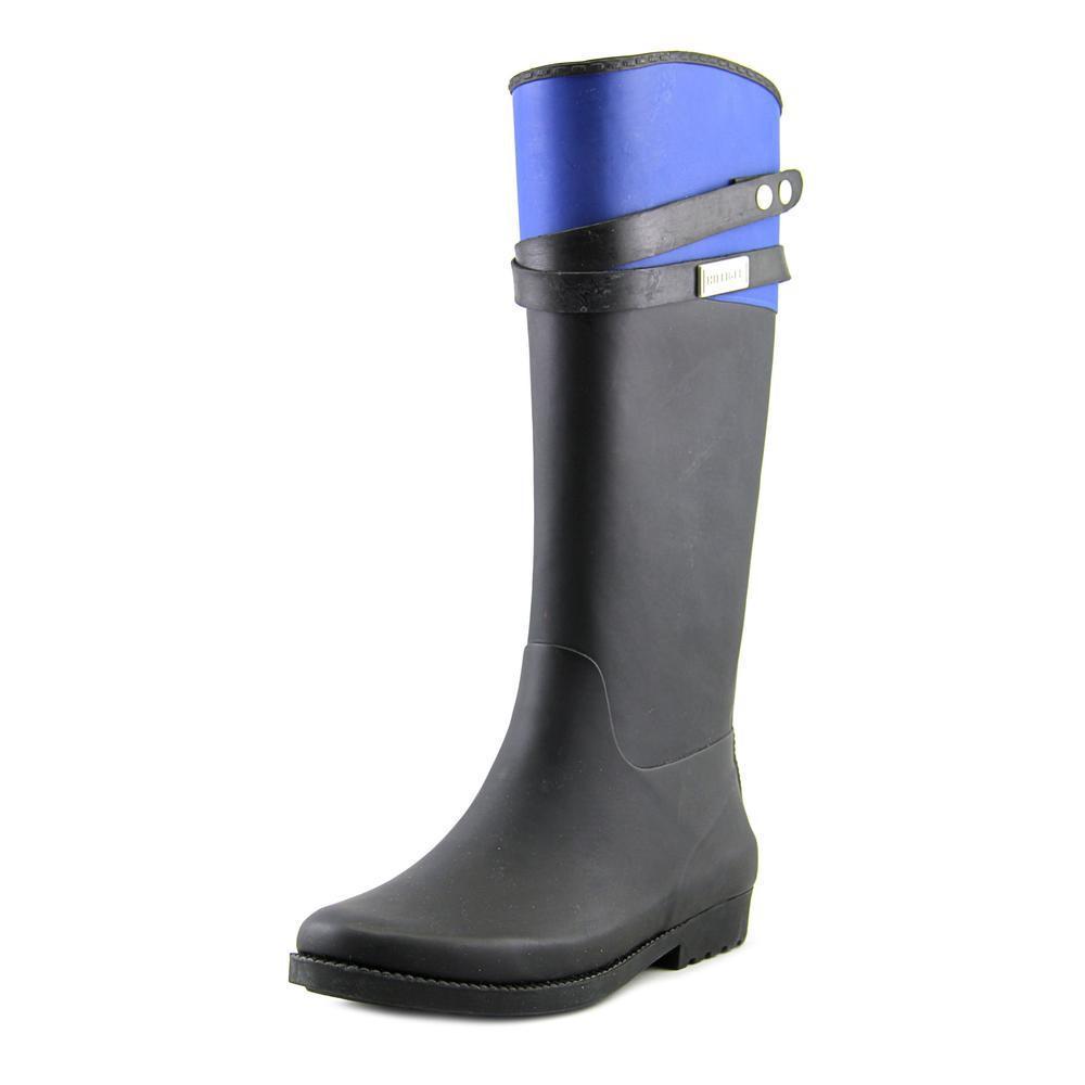 5d6063584 Lyst - Tommy Hilfiger Coree Women Us 6 Black Rain Boot in Black