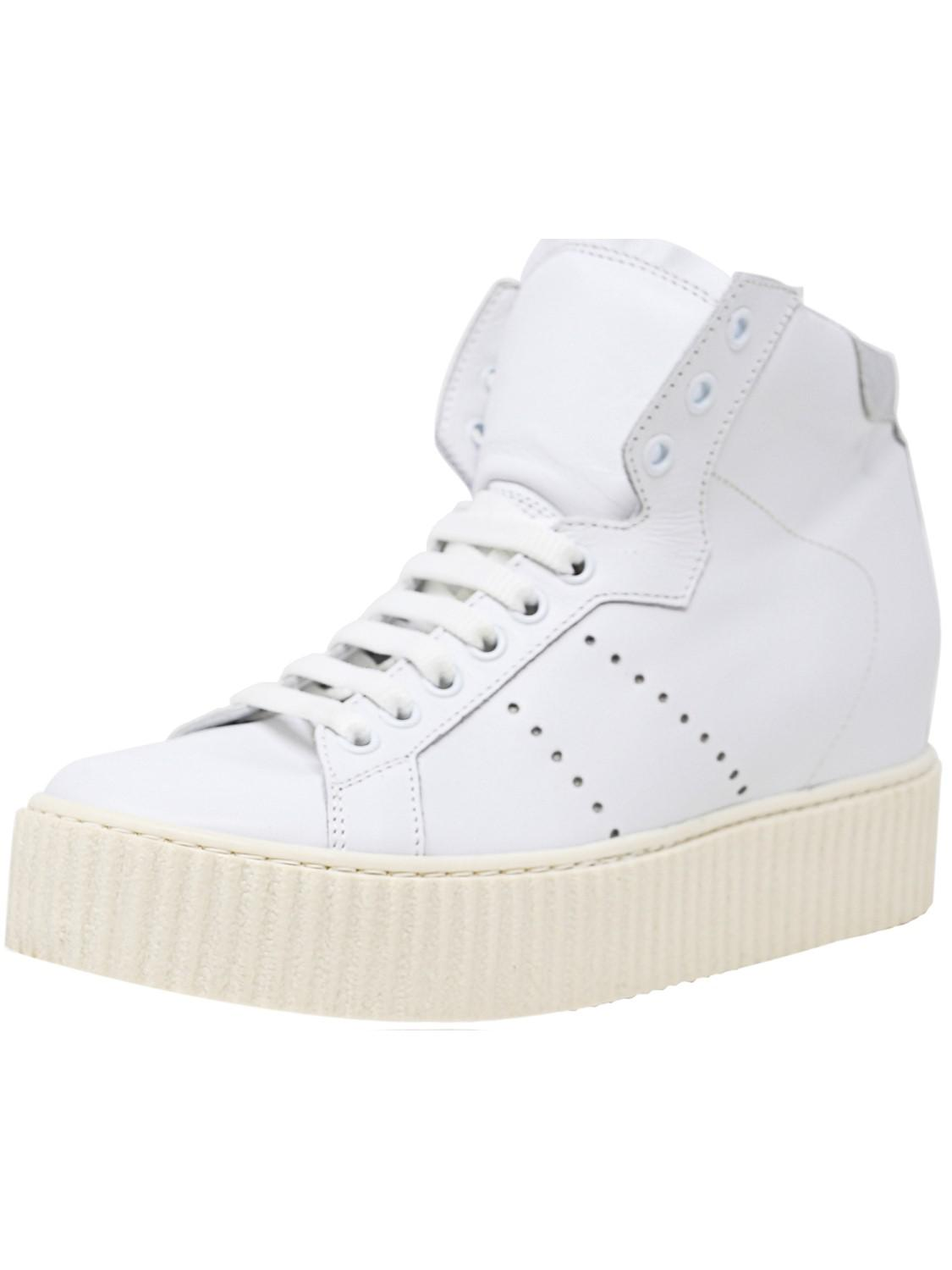 8585fd905f0 Lyst - Steve Madden Marty Leather High-top Fashion Sneaker - 9m in White