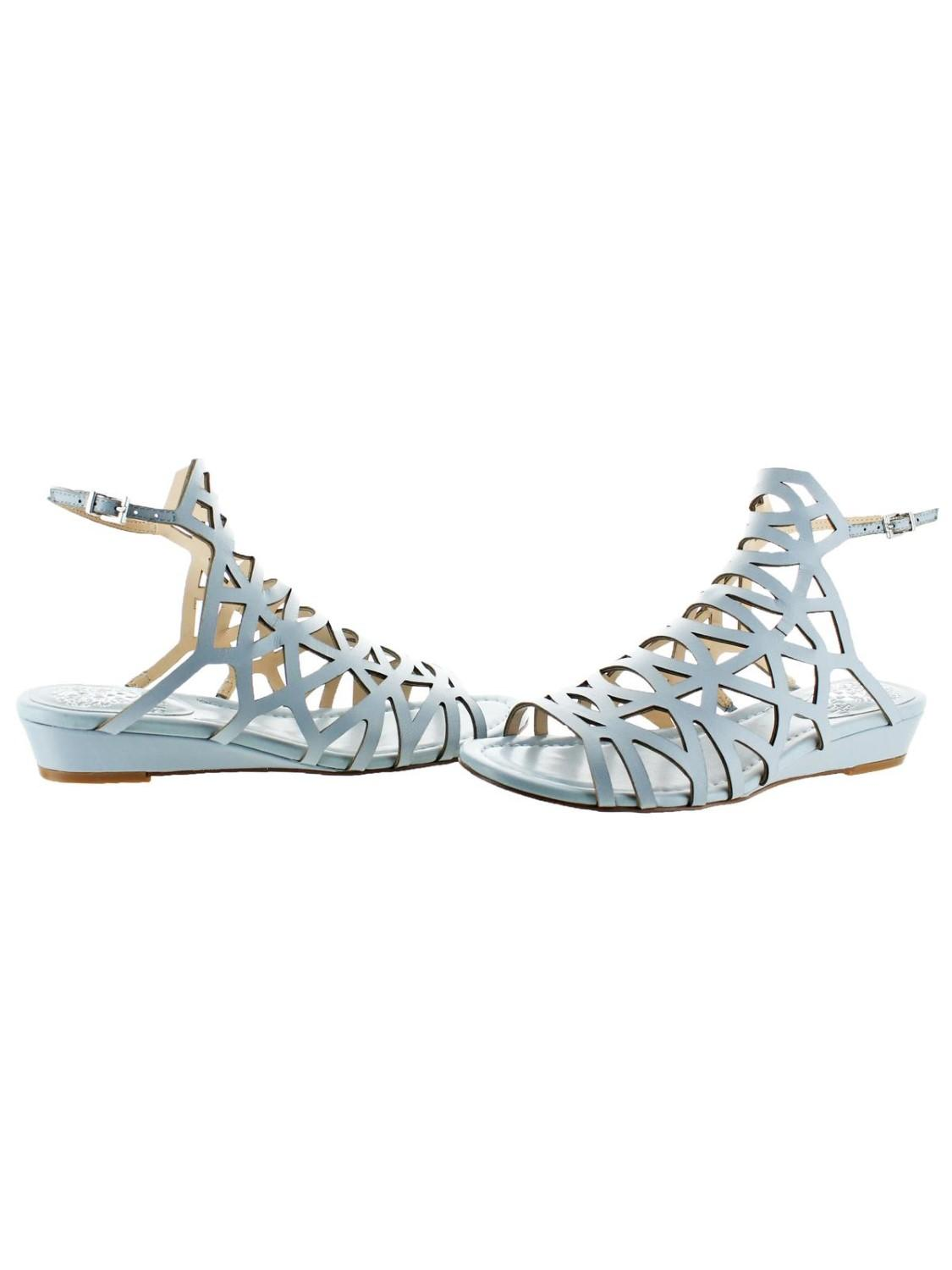 d5bc22044 Vince Camuto - Blue Illana Leather Strappy Slingback Caged Sandal Shoes -  Lyst. View fullscreen