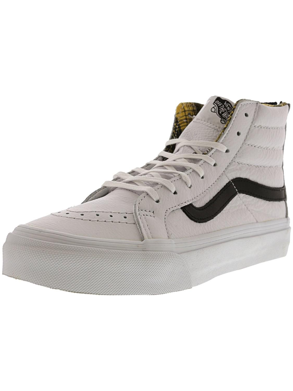 5f0f47ddc5 Lyst - Vans Sk8 Hi Slim Zip Shoes in White for Men