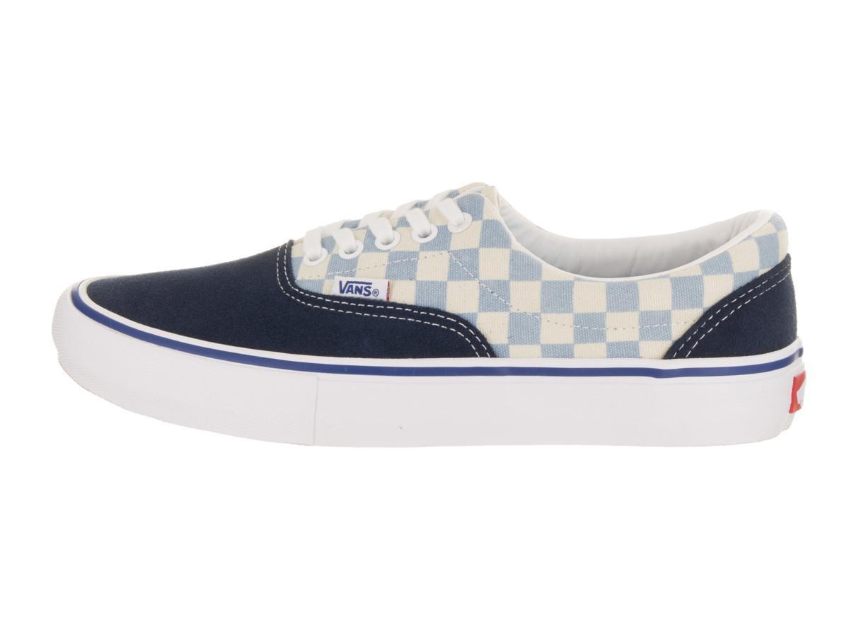 0fcaa68cf477d2 Lyst - Vans Era Pro (checkerboard) Dress Blue Skate Shoe 9 Men Us in ...
