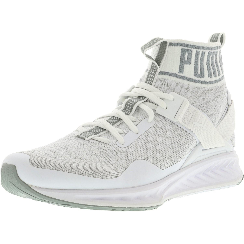 5f20b0974f1c Lyst - PUMA Ignite Evoknit White   Quarry Vaporous Grey Ankle-high ...