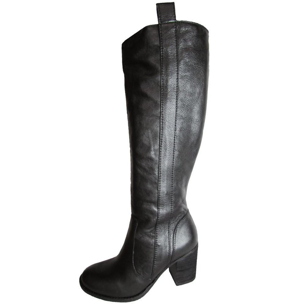75375c9d786 Lyst - Steve Madden Steven By P-twisted Riding Boots in Black