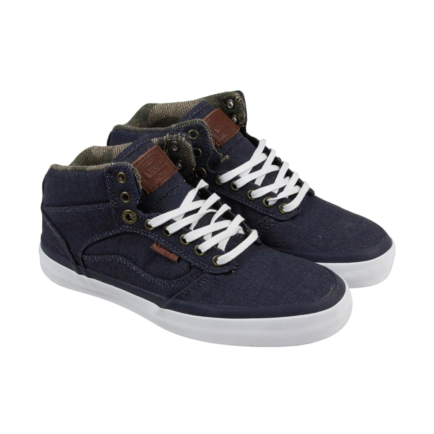 6426958b98 Lyst - Vans Bedford Suiting Parisian Night White Mens High Top ...
