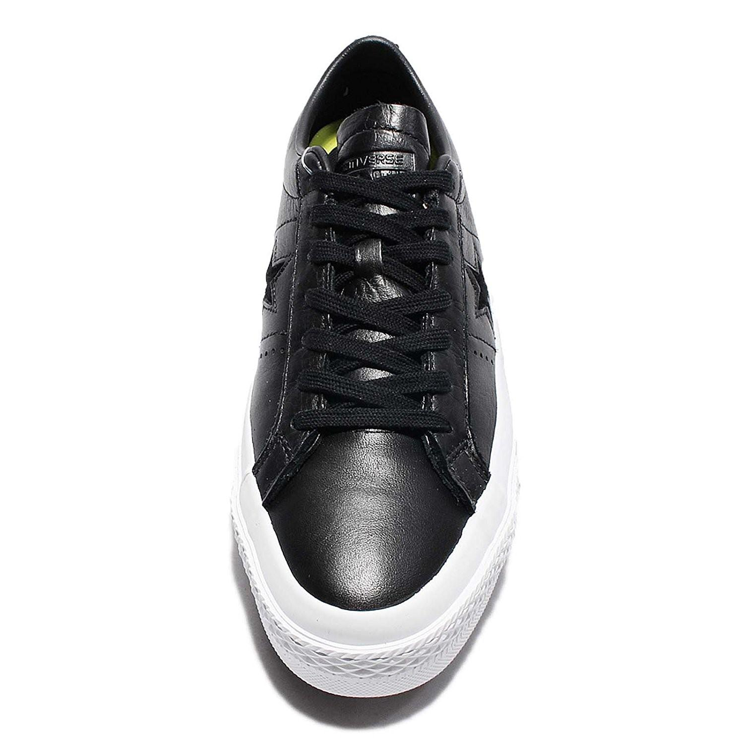 8113cee7d91beb Lyst - Converse 155548c  One Star Ox Black White Black Leather Shoe ...