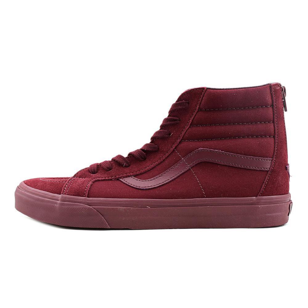 77281a6750110a Lyst - Vans Sk8-hi Reissue Zip Men Round Toe Suede Burgundy Skate ...