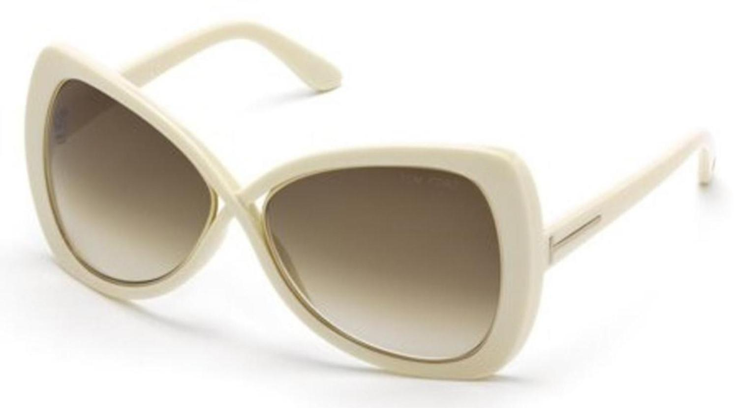 144c7603165e1 Lyst - Tom Ford Ft0277 Jade Sunglasses Ivory   Gradient Brown