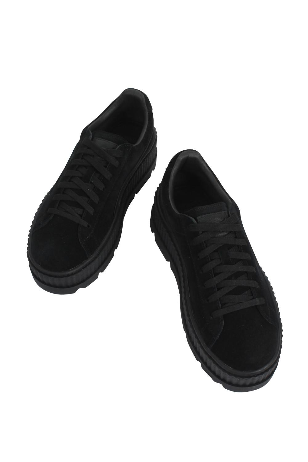... newest 0bf4e 6d2f6 Lyst - Puma X Fenty Cleated Creeper Suede in Black   sale ... d2acb6bc5