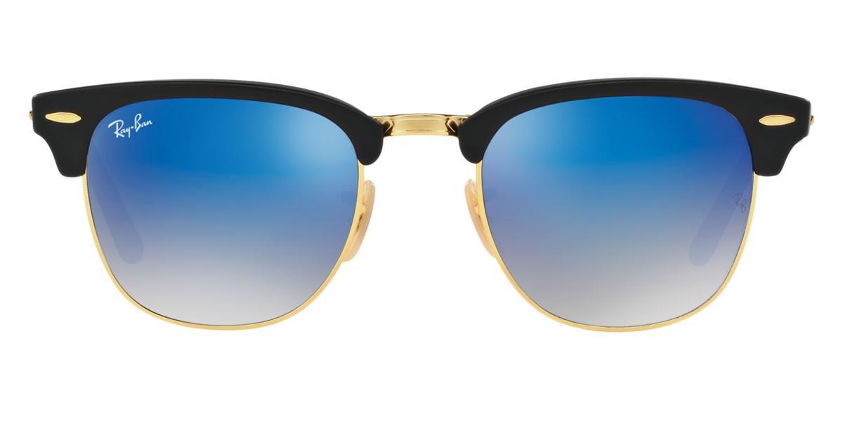 93c15e5732d79 Ray-Ban 0rb2176 901s7q 51 Matte Black blu Flash Gradient Clubmaster ...