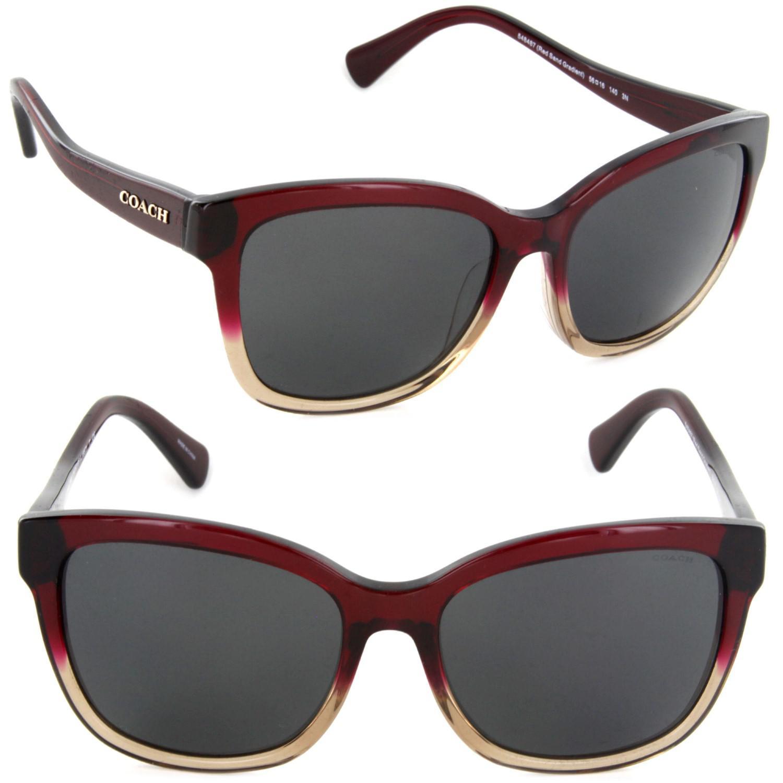 4b7a21380f ... release date lyst coach hc8219f 548487 56 square sunglasses red sand  gradient 1a9f8 5a3db