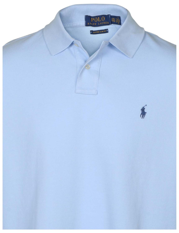 ea745b83 Lyst - Polo Ralph Lauren Polo Rl Custom Slim Fit Mesh Pony Shirt in Blue  for Men