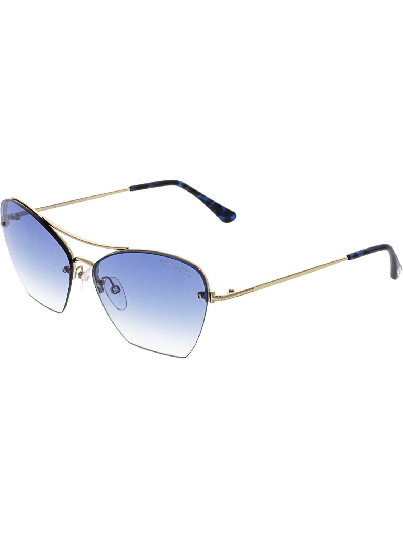 1049e9b70d0 Lyst - Tom Ford Annabel Ft0507-28w-58 Gold Semi-rimless Sunglasses ...