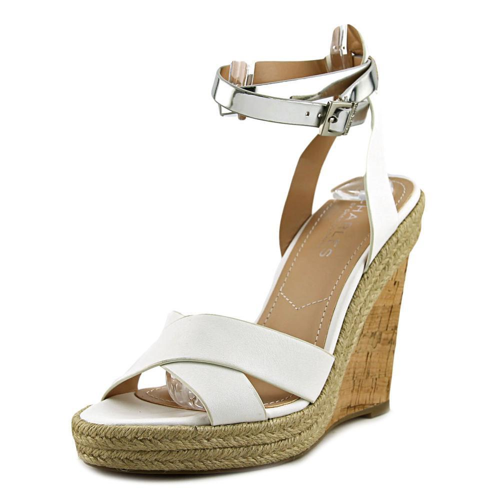 89d44f9ca3a Lyst - Charles David Charles By Brit Women Us 7 White Sandals
