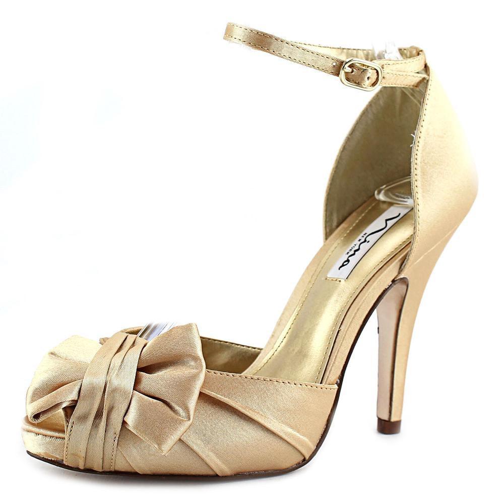 db7d8155423b37 Lyst - Nina Ella Gold Sandals in Metallic