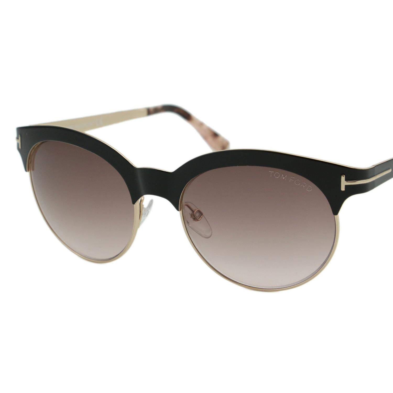 aec1ada80a Lyst - Tom Ford Sunglasses Angela   Frame  Shiny Black Lens  Brown