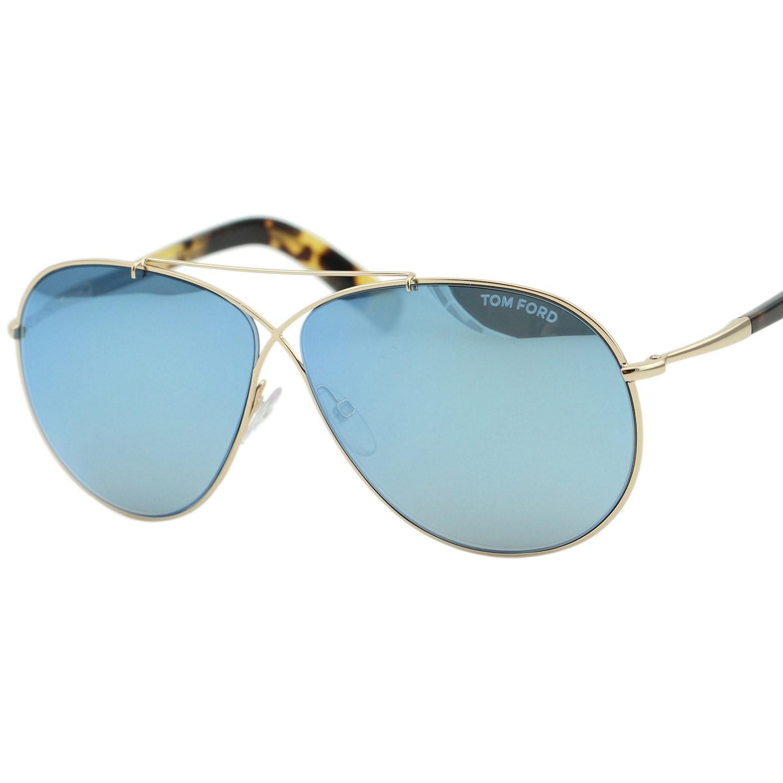 fa9f12cbbd Tom Ford - Metallic Ft0374 Eva Aviator Sunglasses