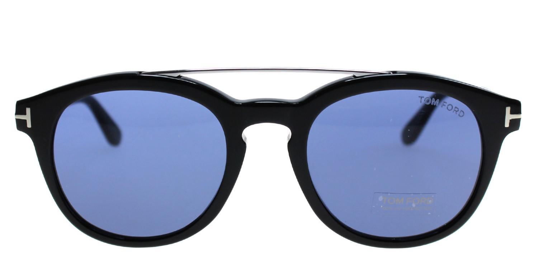 85d05b20b7 Lyst - Tom Ford Newman Tf515 01v Sunglasses Black Frame Blue Lenses ...