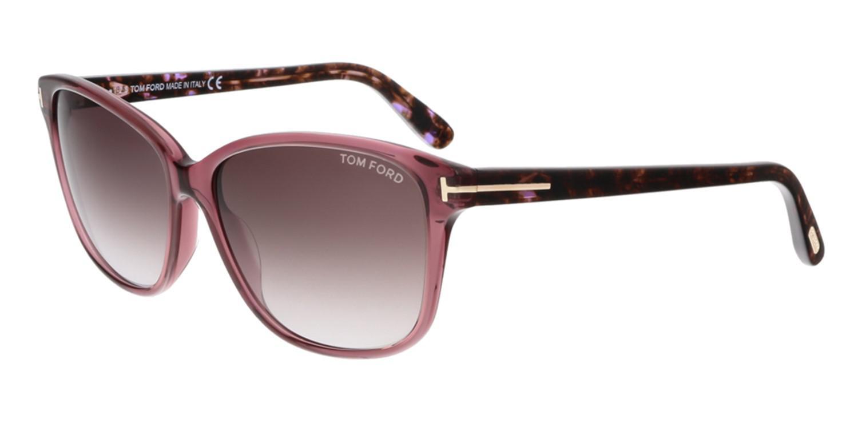 6ae2442048f Lyst - Tom Ford Sunglasses Dana   Frame  Burgundy Lens  Purple Gradient