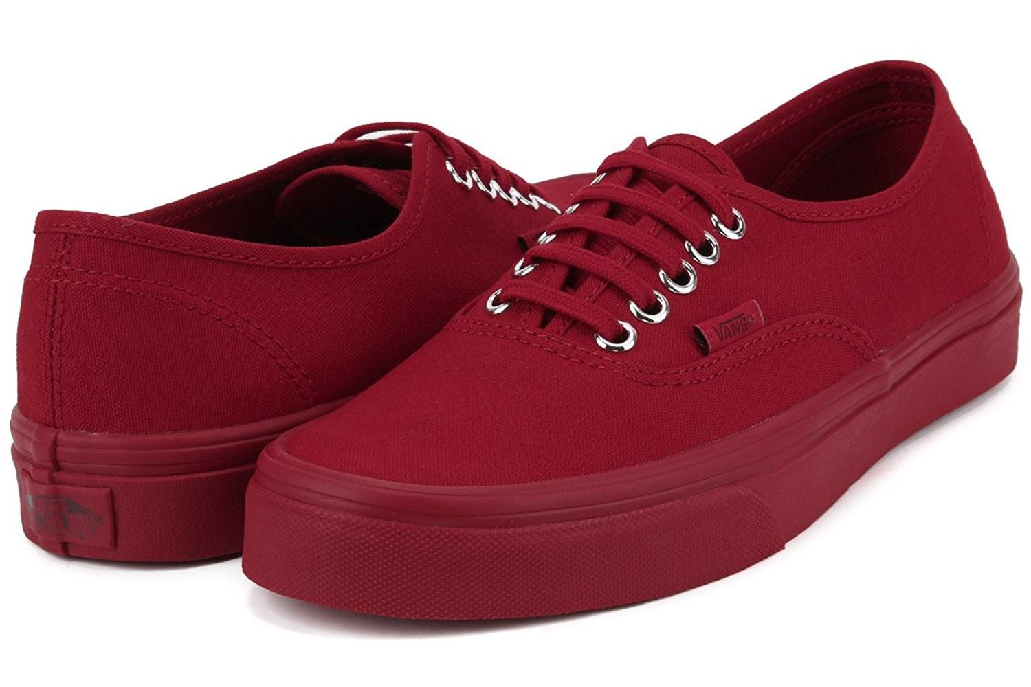 c859f2a4c0 Lyst - Vans Unisex Authentic Primary Mono Skate Shoes-red-13.5-women ...