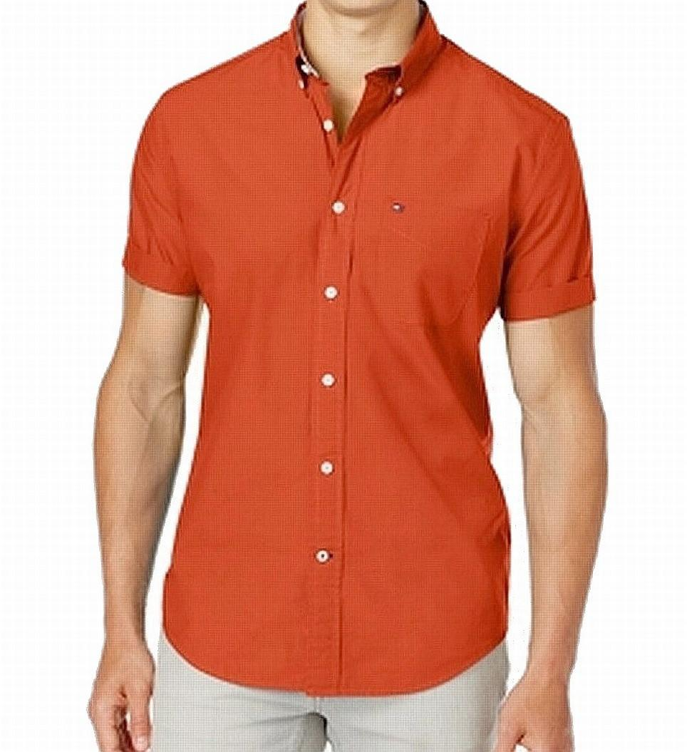 855b5d42700d Lyst - Tommy Hilfiger Maxwell Short-sleeve Button-down Shirt in Red ...