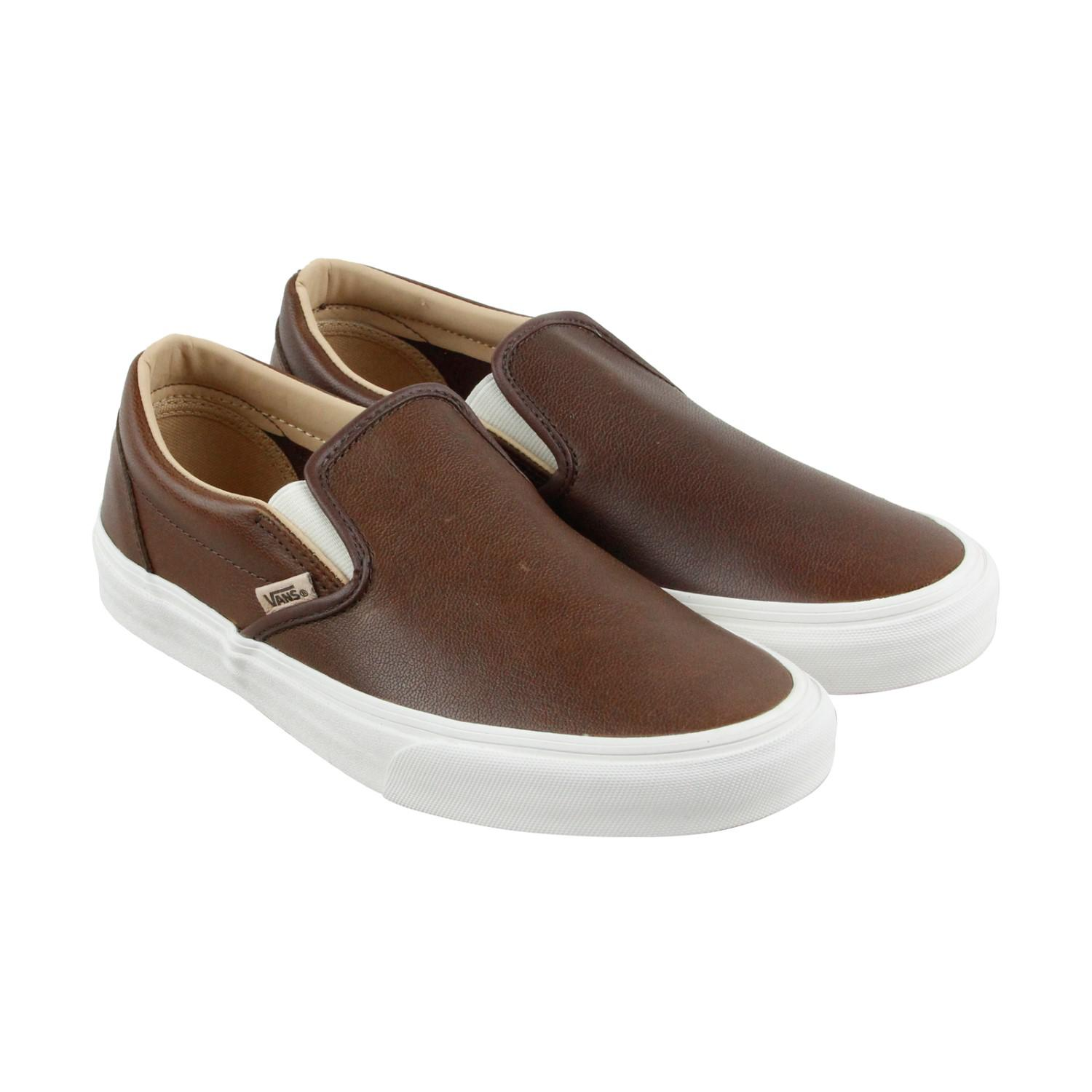 Lyst - Vans Unisex Classic Slip-on Shoes Lux Leather Shaved ... d51f4cf53