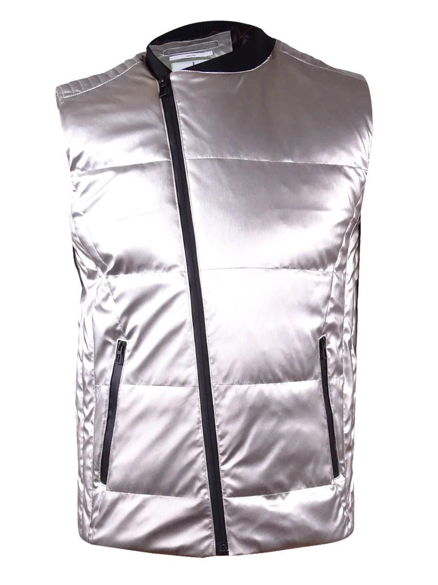 329f31e30293 Lyst - Calvin Klein Quilted Silver-tone Vest (s for Men