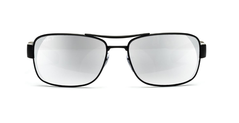 c1d345e3dc3f Lyst - Ray-Ban 0rb3522 006 82 64 Matte Black grey Mirror Silver ...