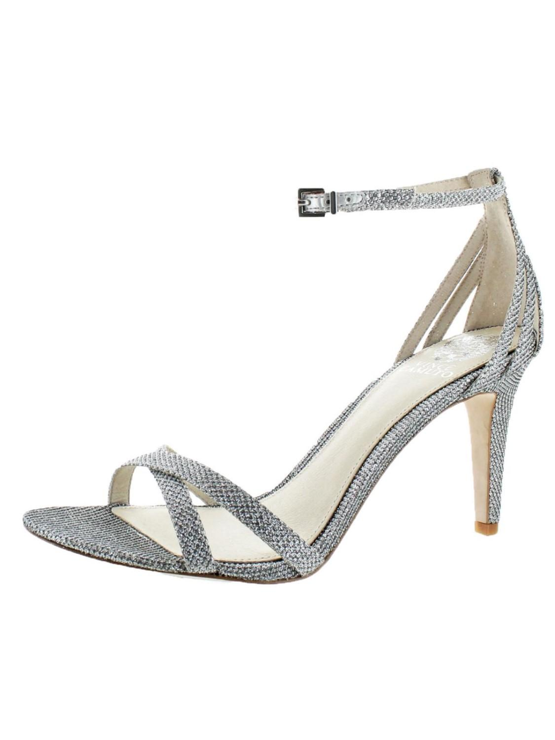 92880b3398e4 Vince Camuto. Women s Metallic Camron Leather Open Toe Criss-cross Dressy Sandal  Shoes