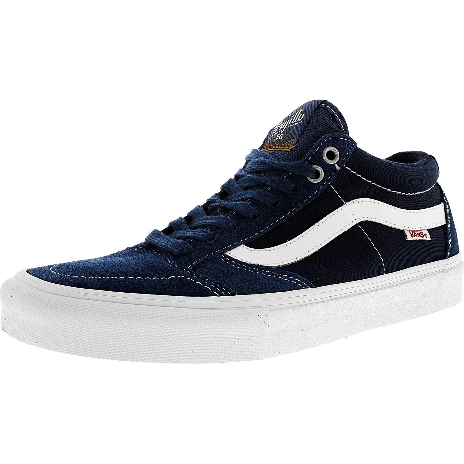 38d9a95d5a Lyst - Vans Tnt Sg Washed Canvas Navy   White Ankle-high ...