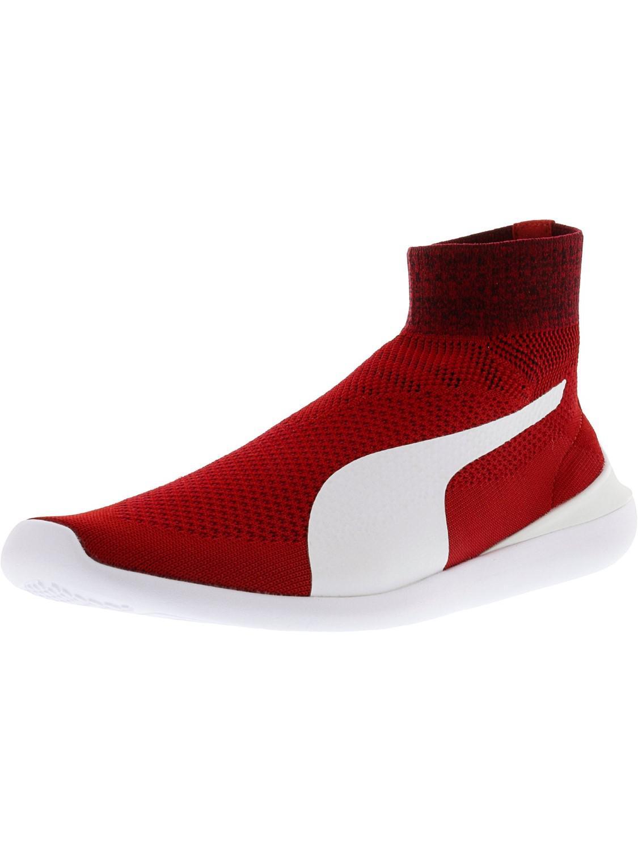 0d2f0035e4f Lyst - PUMA Ferrari Evo Cat Sock Rosso Corsa / White Ankle-high ...