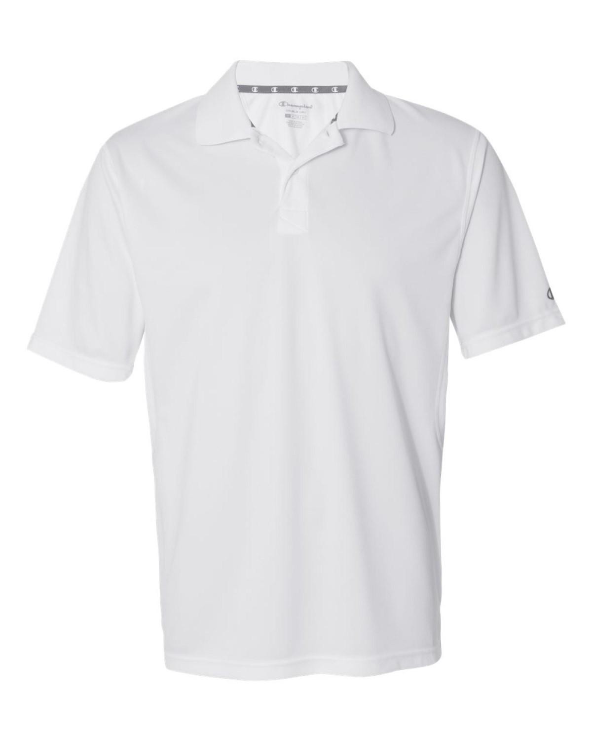 621dc14b Champion. Men's White Ultimate Double Dry Short Sleeve Performance Polo  Shirt. H131