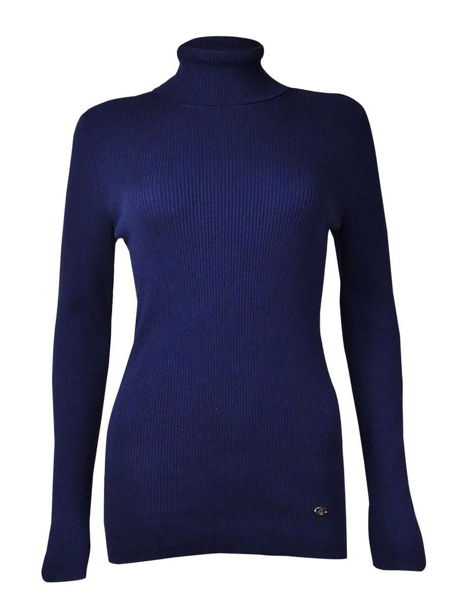 Ralph lauren Ribbed Turtleneck Sweater (s in Blue | Lyst