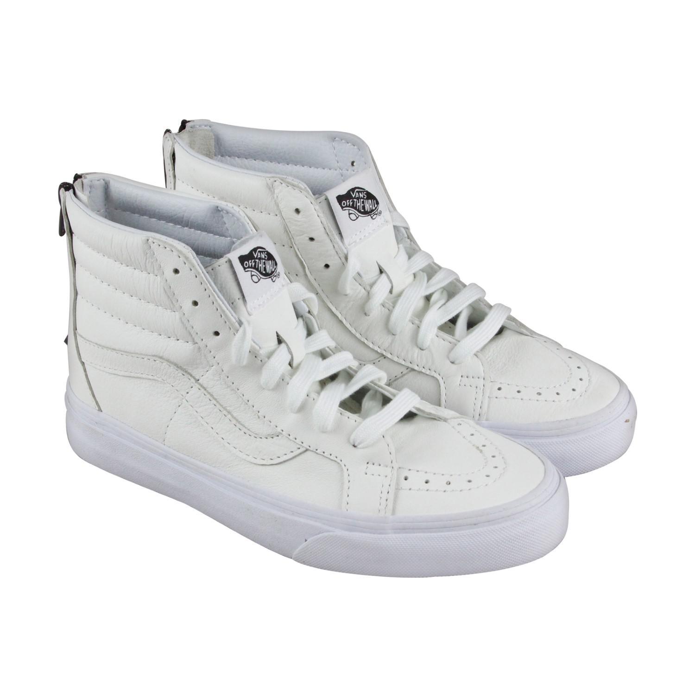 bbdf1209f3027e Lyst - Vans Sk8 Hi Reissue Zip True Black High Top Sneakers in White ...