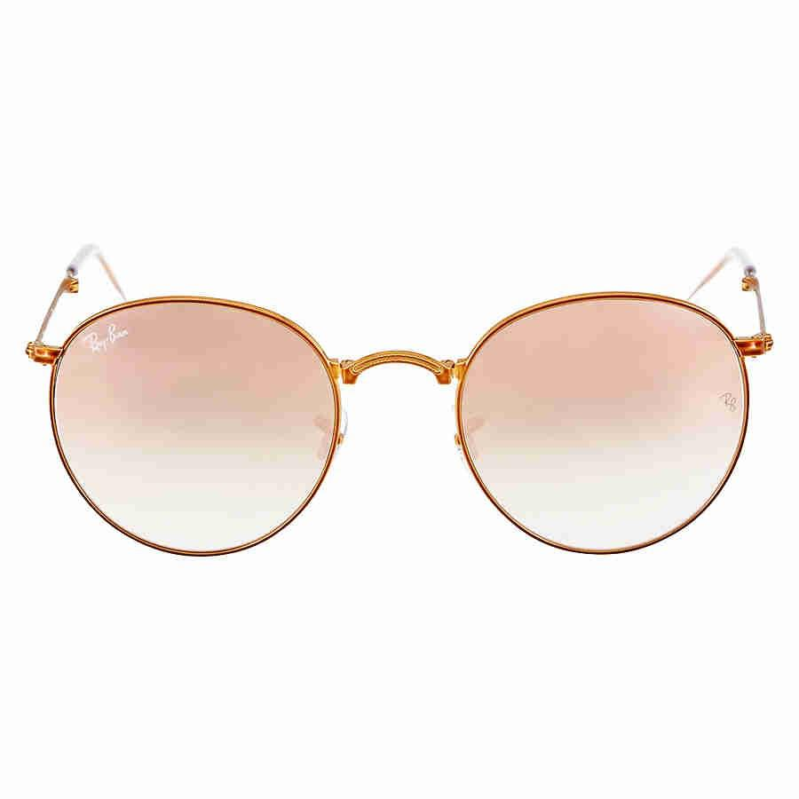 8b1a1a5d030 Lyst - Ray-Ban Ray Ban Round Metal Folding Copper Gradient Flash ...
