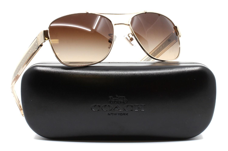 0babf9e6fe3b ... wholesale sale lyst coach hc7064 926513 56 silver rectangle sunglasses  in metallic 4c33f e9498 56560 f6d72