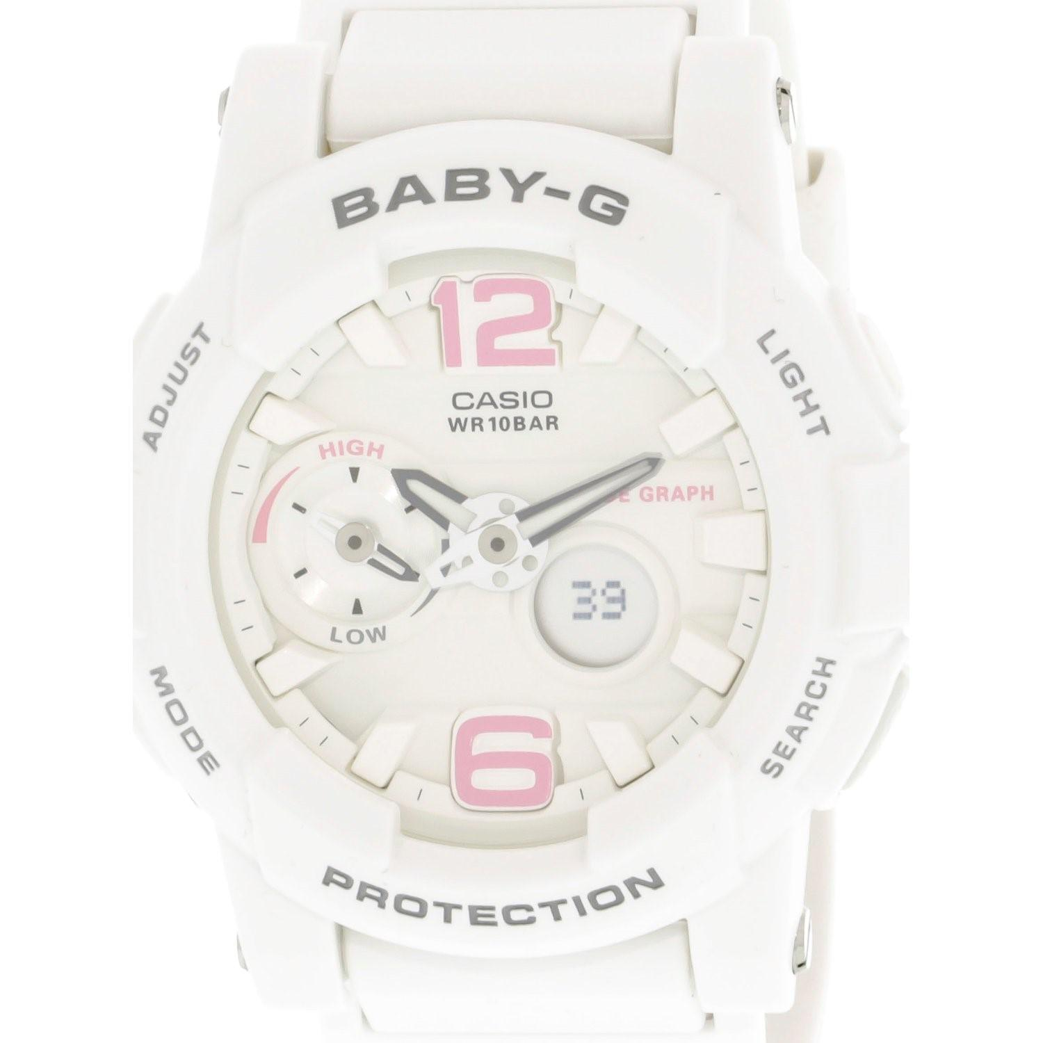 Lyst G Shock Baby Bga180be 7b White Resin Japanese Quartz Diving Casio Bga 180 7b1 Gallery